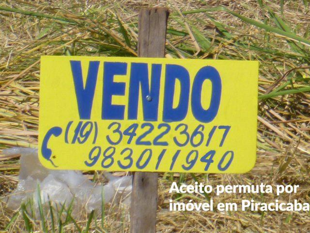 Placa vende-se terreno fone Pira 2
